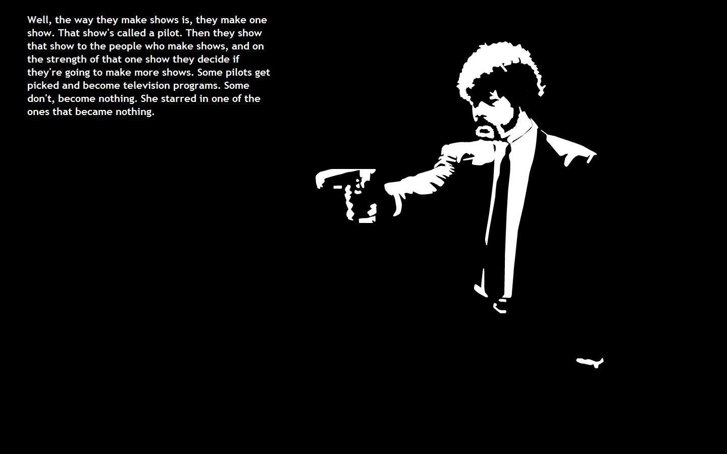 pulp fiction black background HD Wallpaper