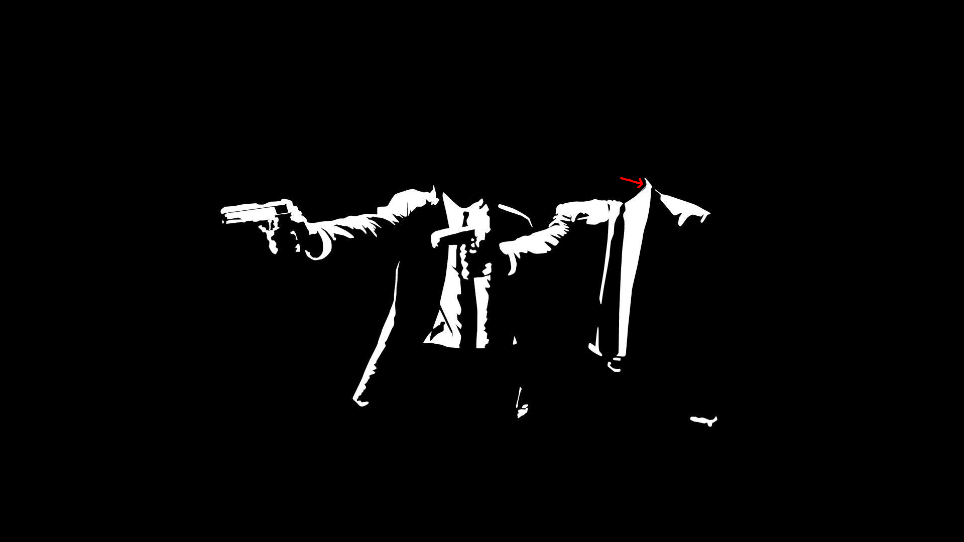 pulp fiction head black HD Wallpaper