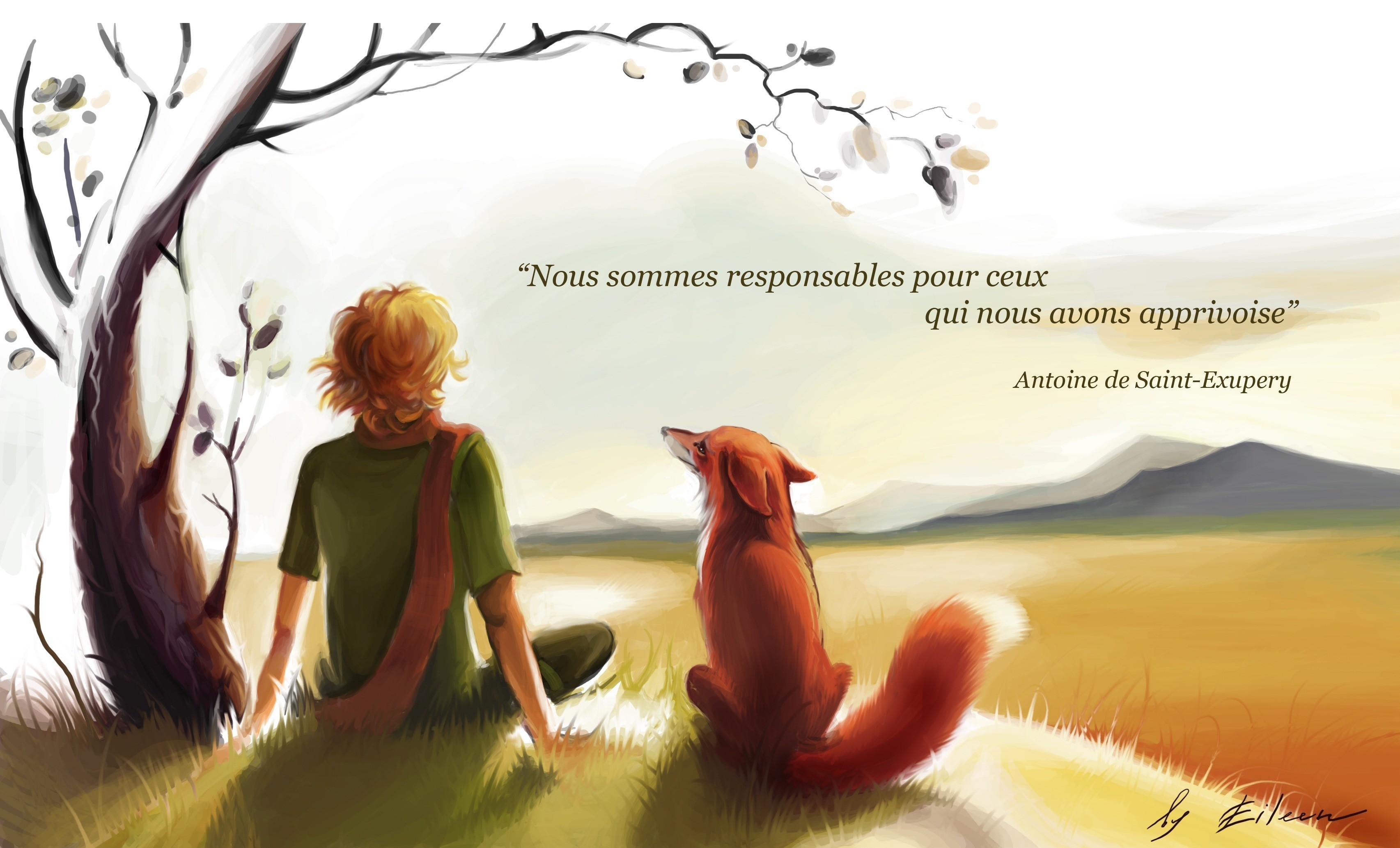 Quotes artwork antoine de HD Wallpaper