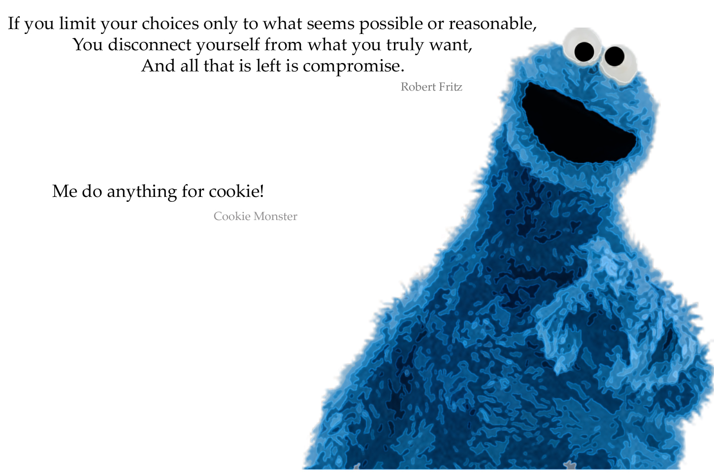 Quotes Cookie Monster HD Wallpaper