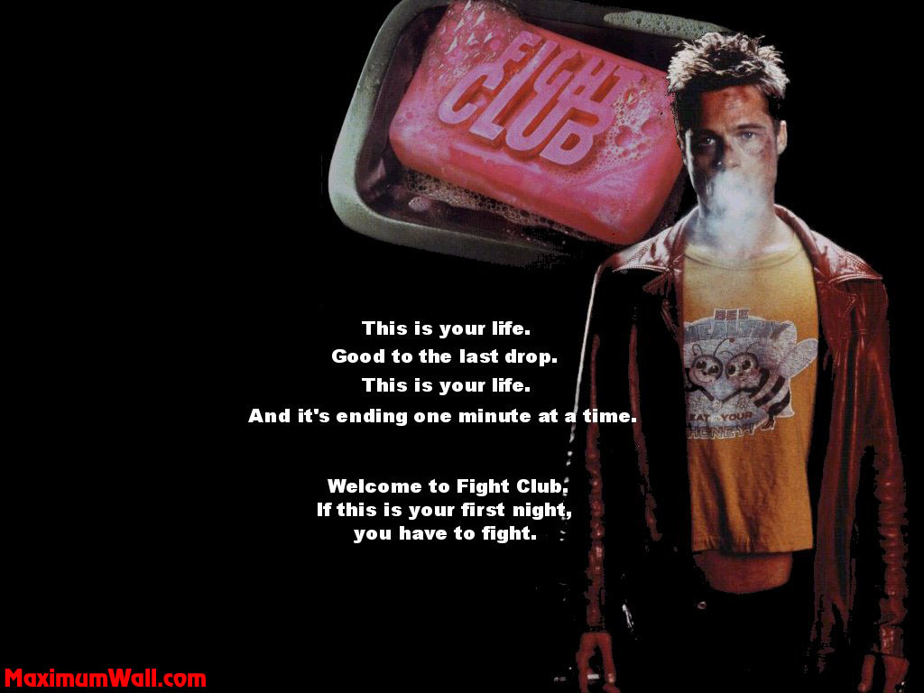 quotes fight club quote desktop 1024x768 wallpaper 350460 Fight Club Quotes Wallpaper