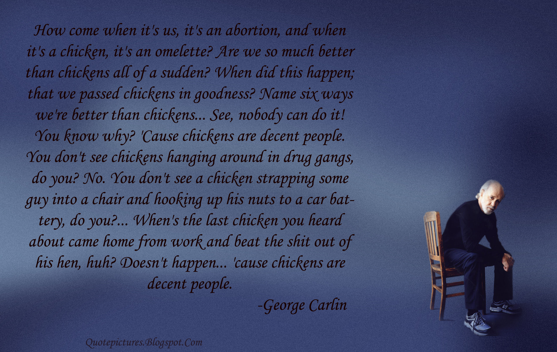 Quotes george carlin HD Wallpaper
