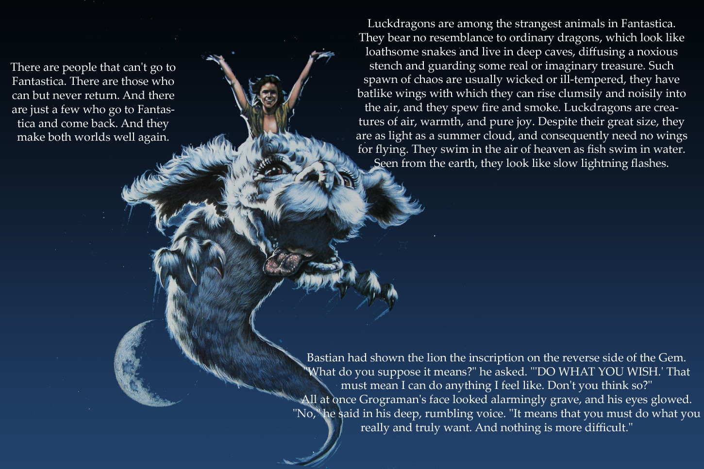 Quotes Neverending Story falcor HD Wallpaper