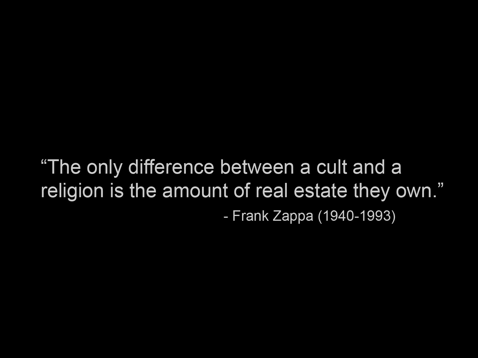 Quotes religion frank Zappa HD Wallpaper