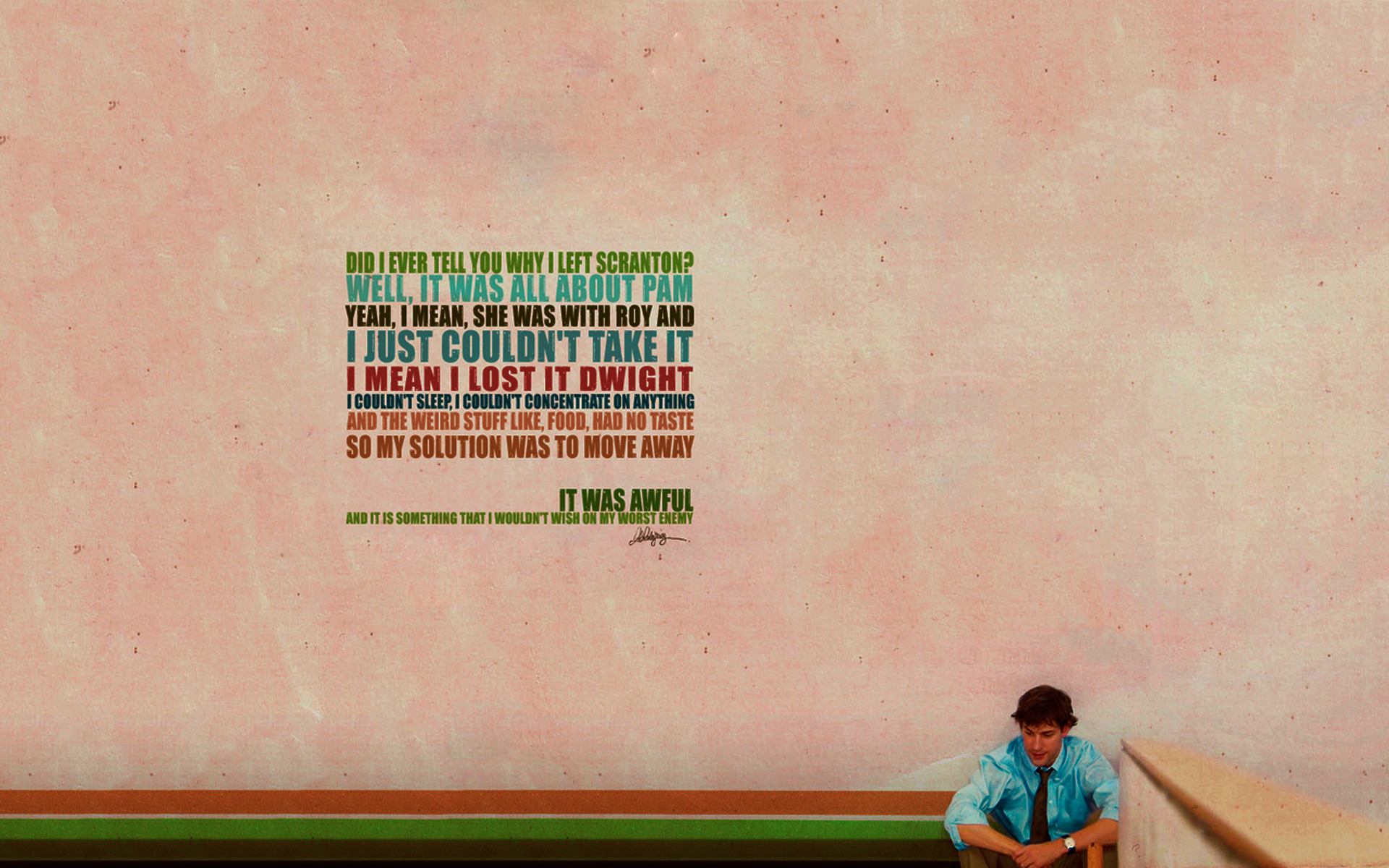 Quotes The office John HD Wallpaper
