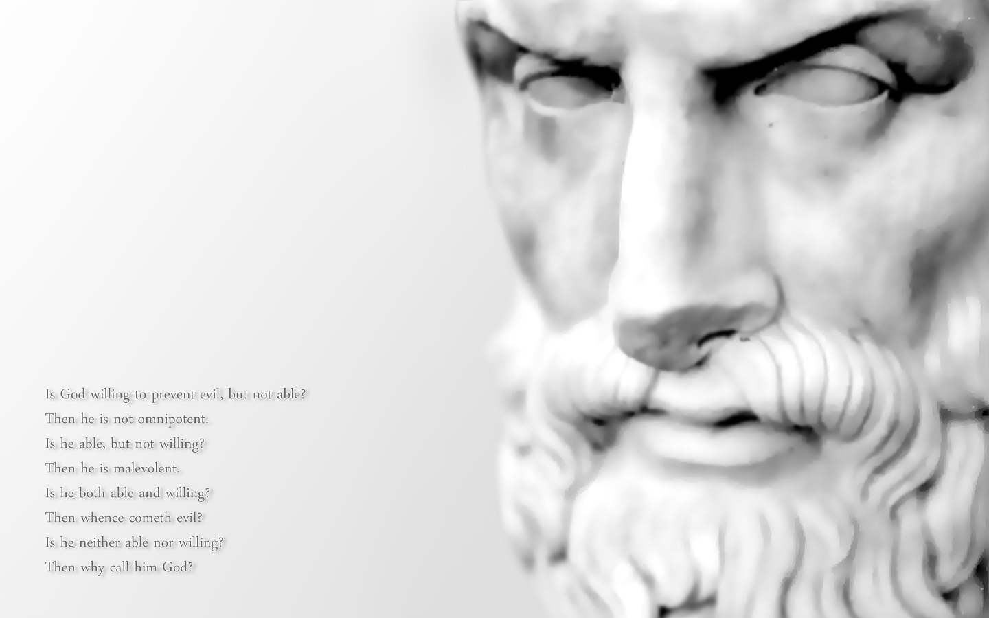 Quotes white Epicurus god HD Wallpaper