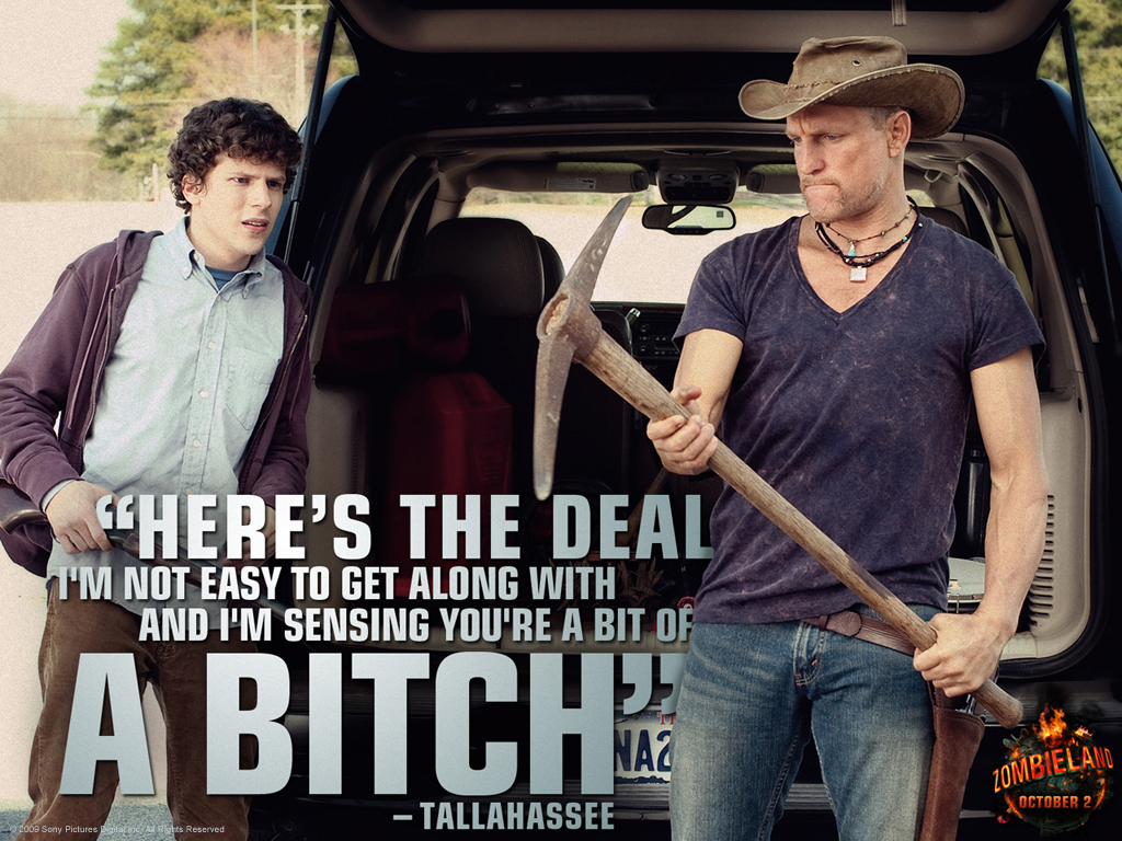 Quotes Zombieland jesse eisenberg HD Wallpaper