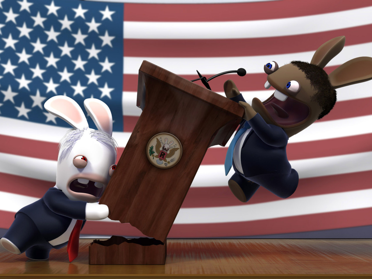 rabbids raving HD Wallpaper