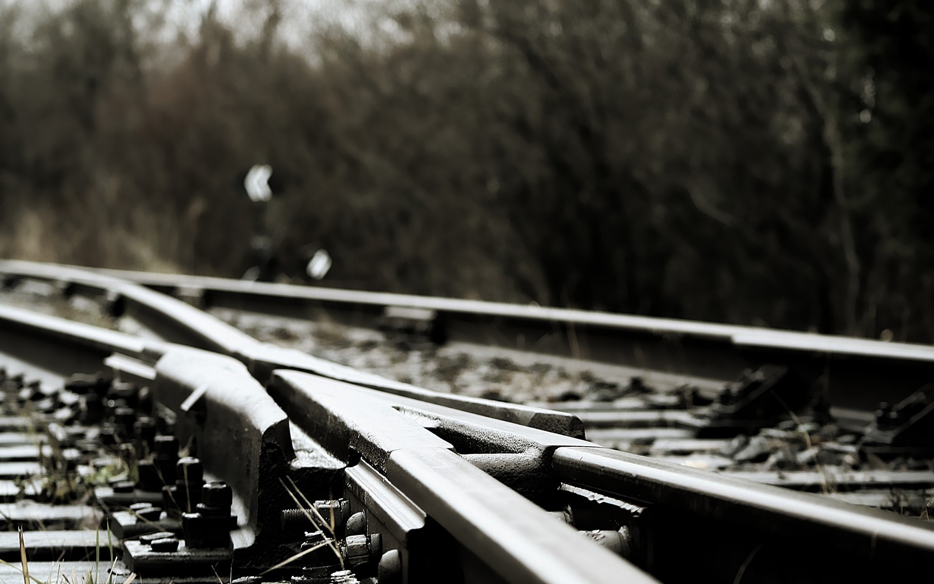 railroad tracks depth of HD Wallpaper