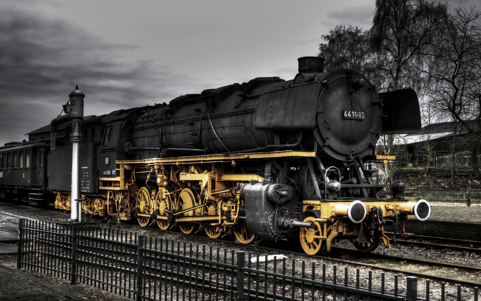 railroad tracks steam engine