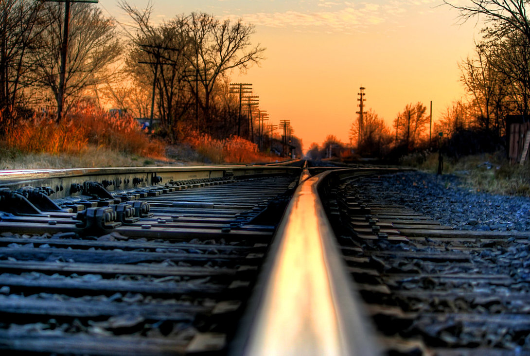 railroad tracks train HD Wallpaper