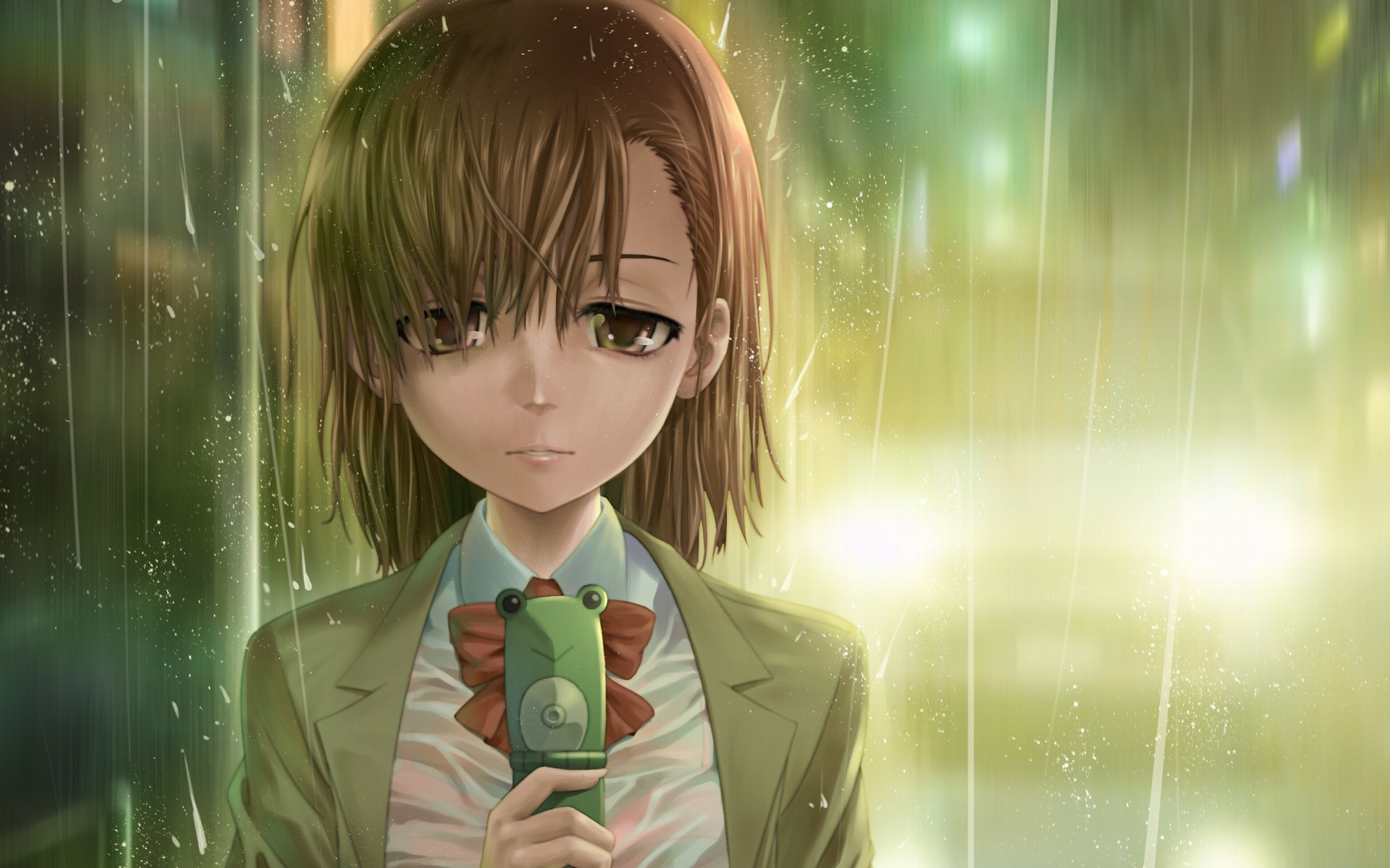 rain misaka mikoto toaru HD Wallpaper