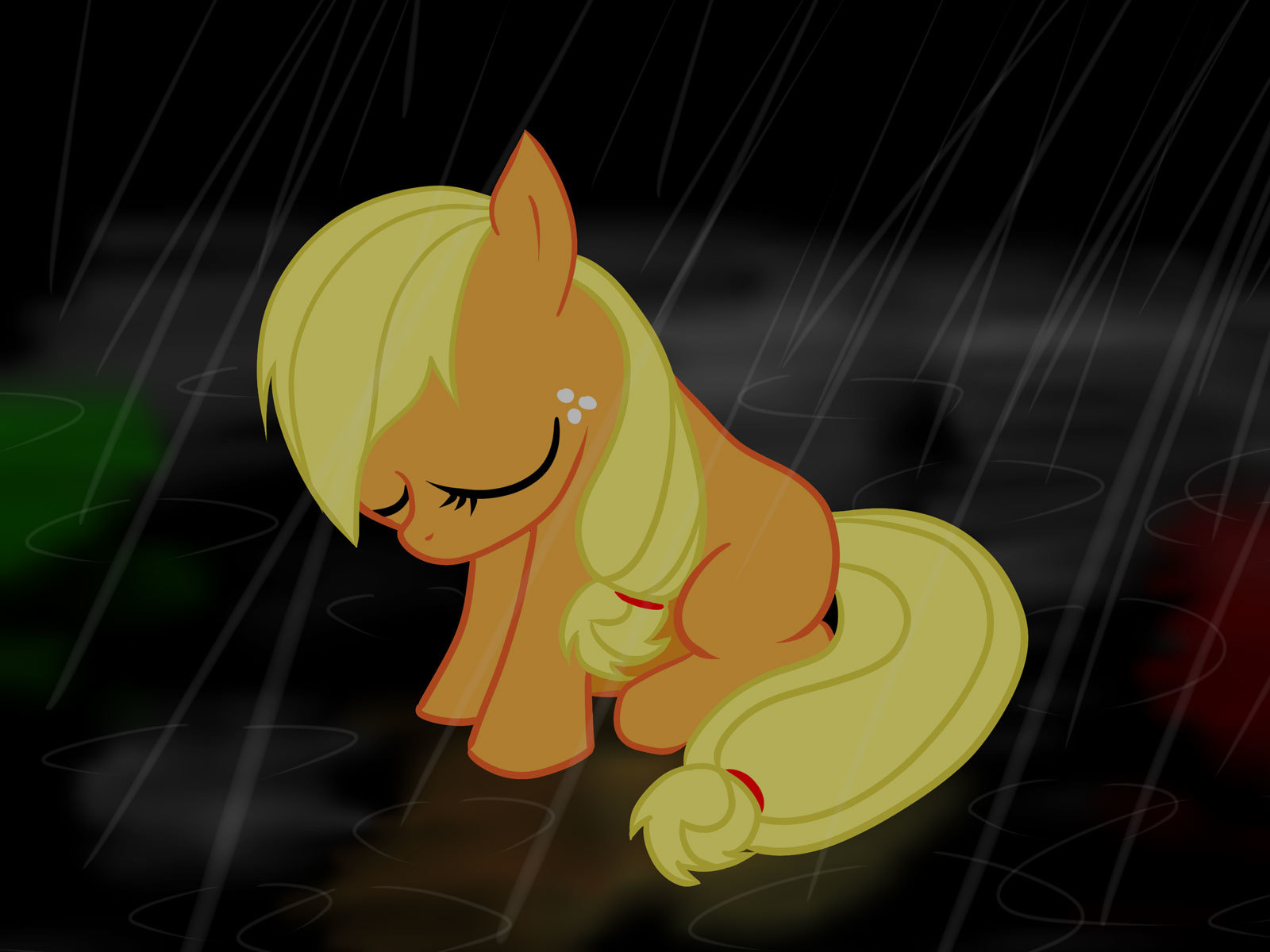 rain my little pony HD Wallpaper