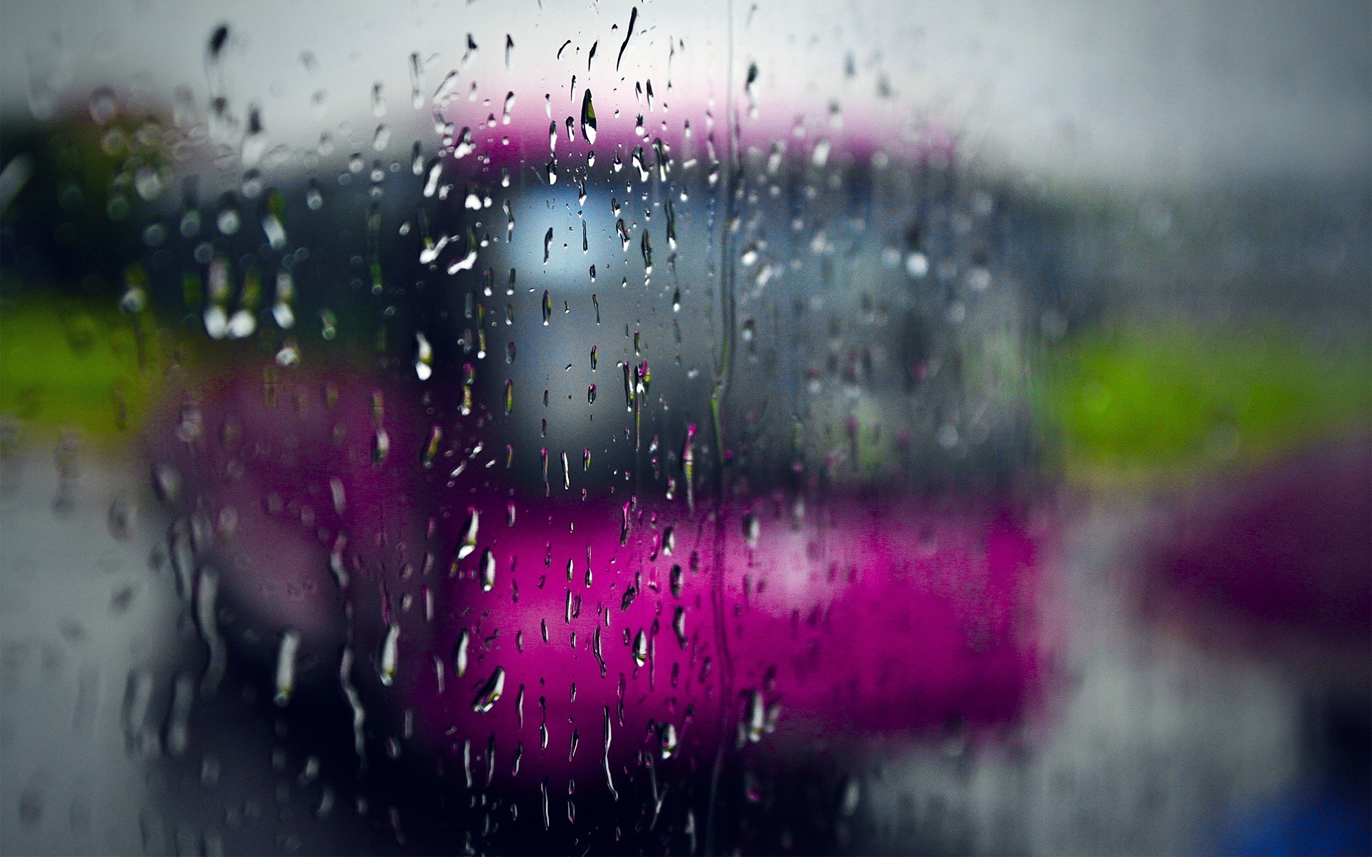rain rain on glass HD Wallpaper