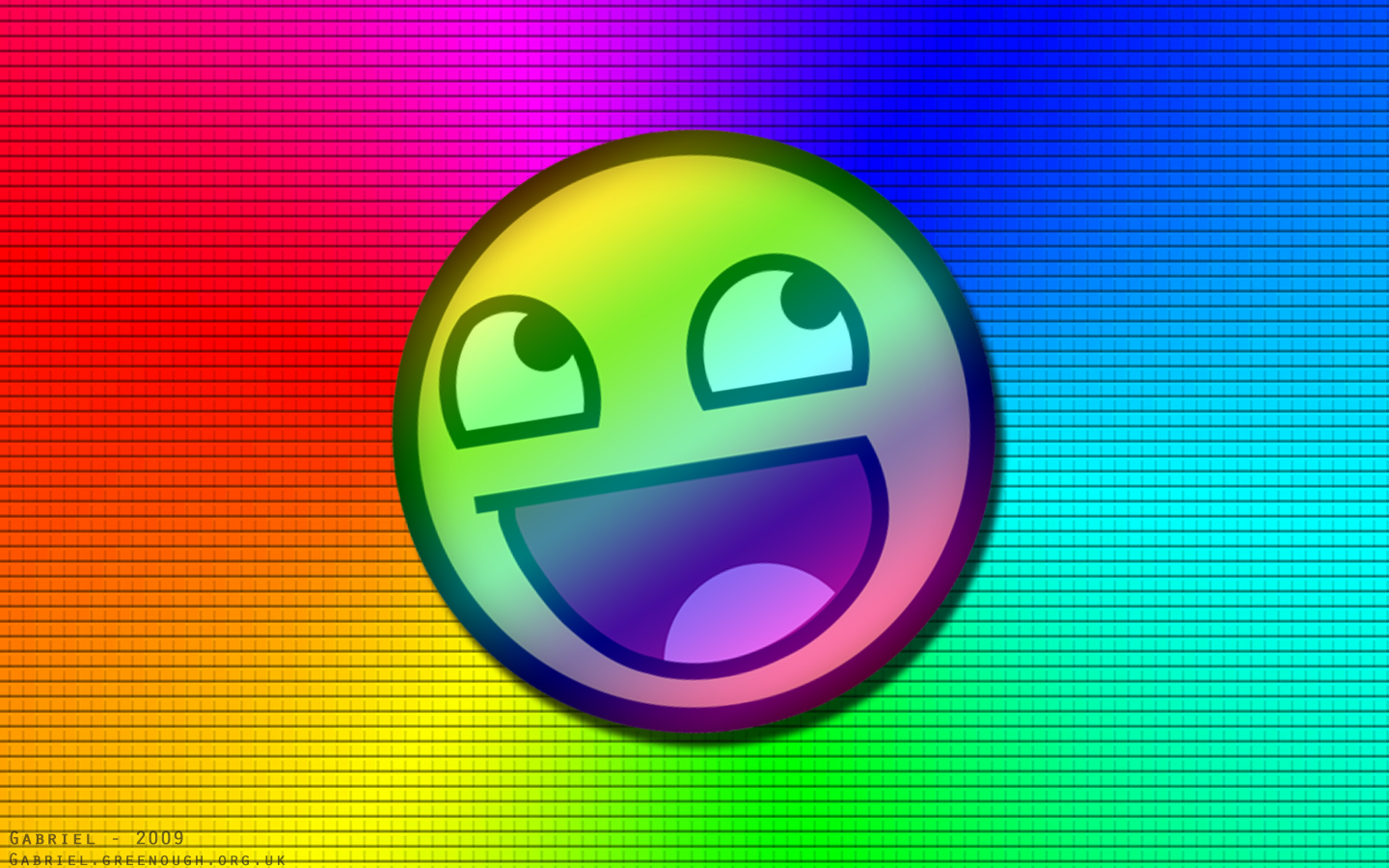 rainbows Awesome Face HD Wallpaper