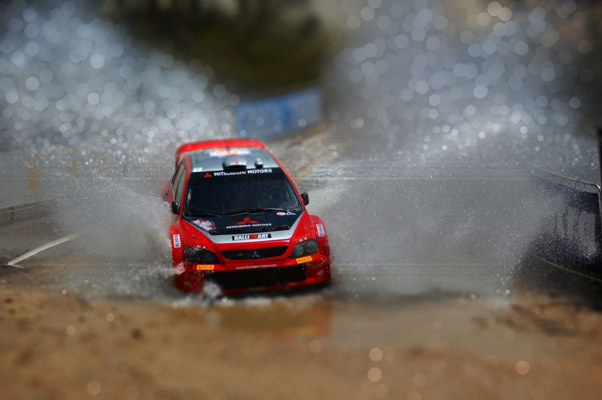 rally macro mitsubishi lancer HD Wallpaper