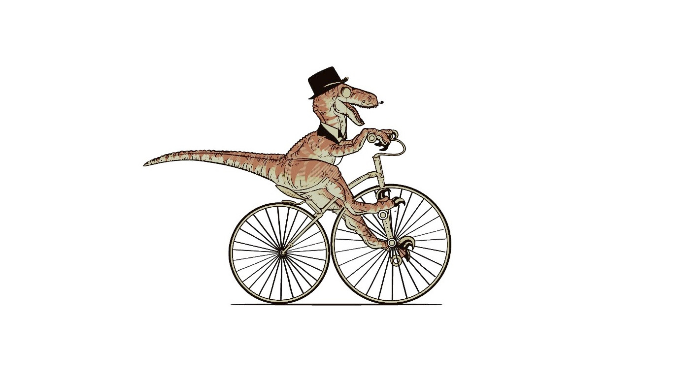 raptor Bicycles Animals Gentlemen HD Wallpaper