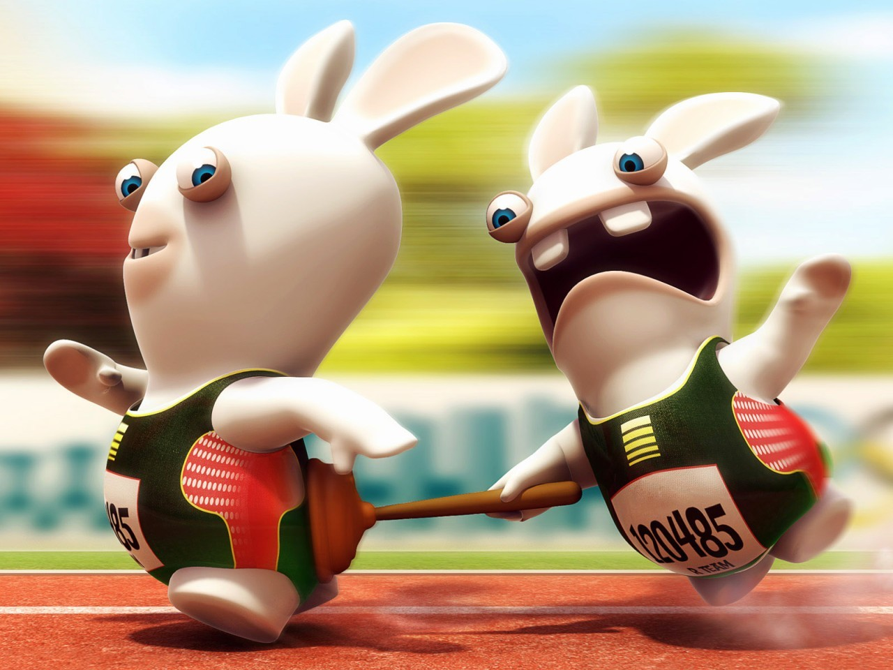 rayman Racer Raving Rabbids HD Wallpaper