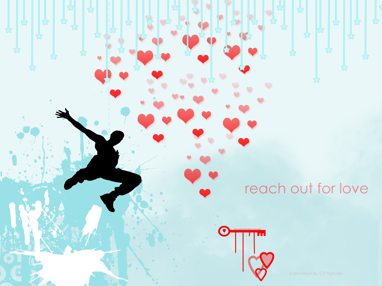 reach out for love HD Wallpaper