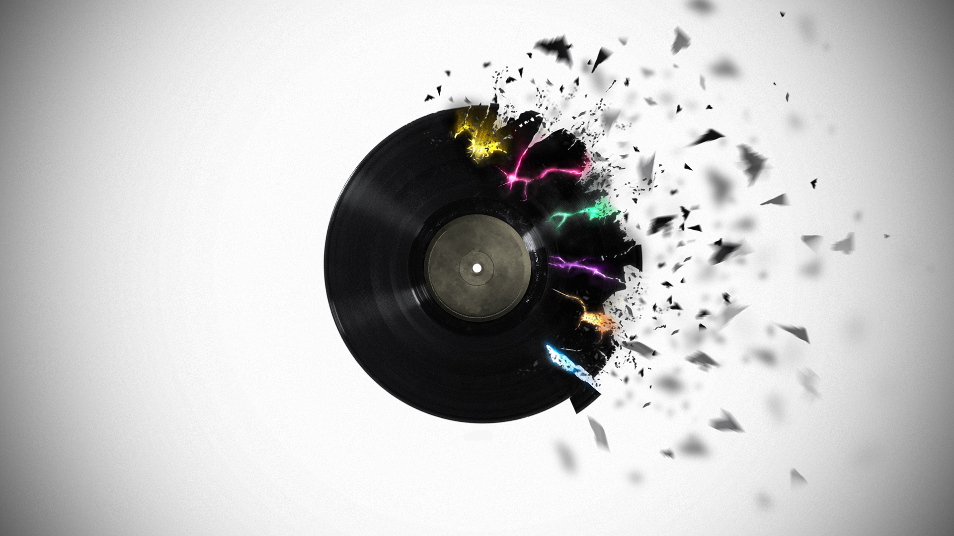 record vinyl digital art