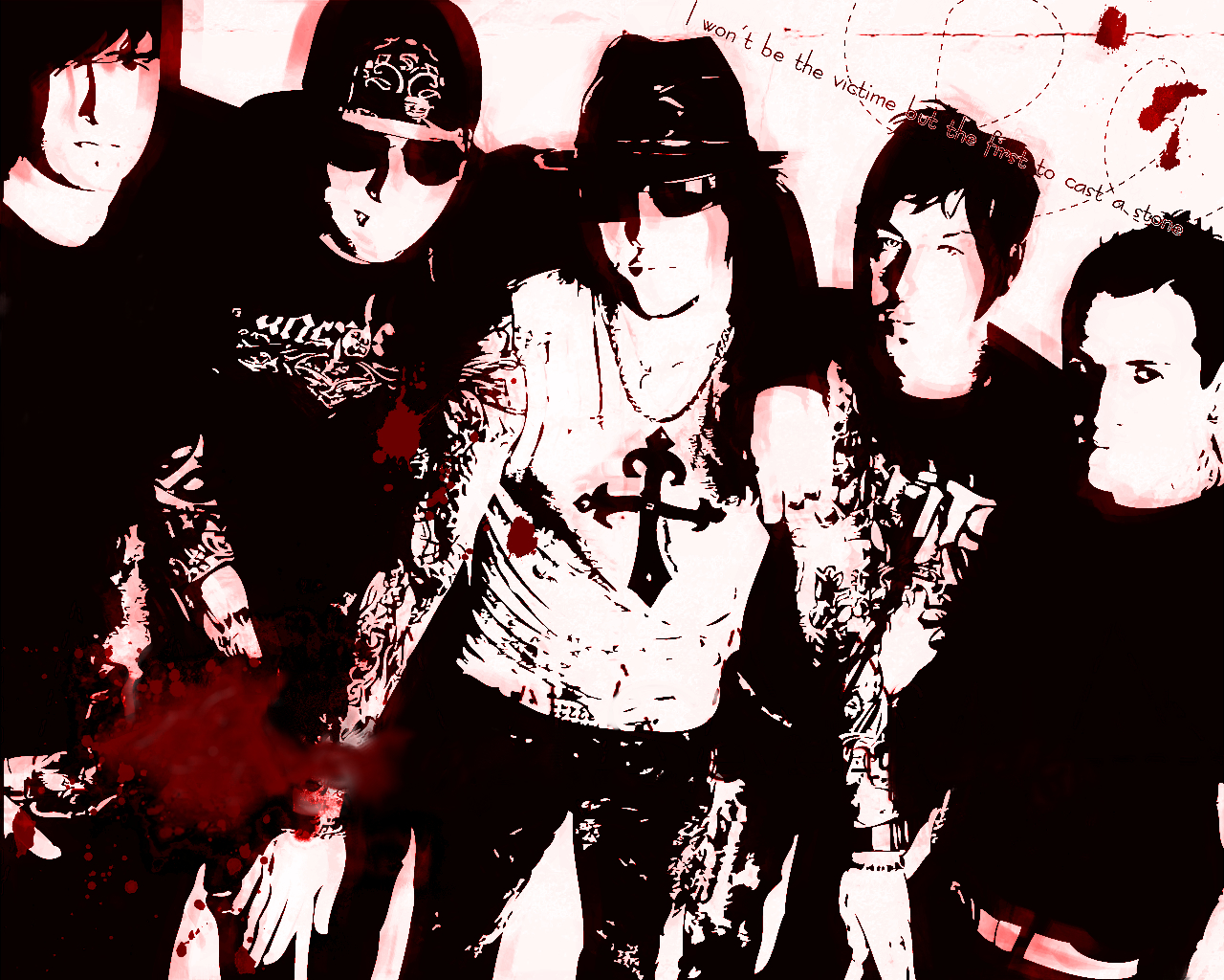 red avenged sevenfold posters HD Wallpaper