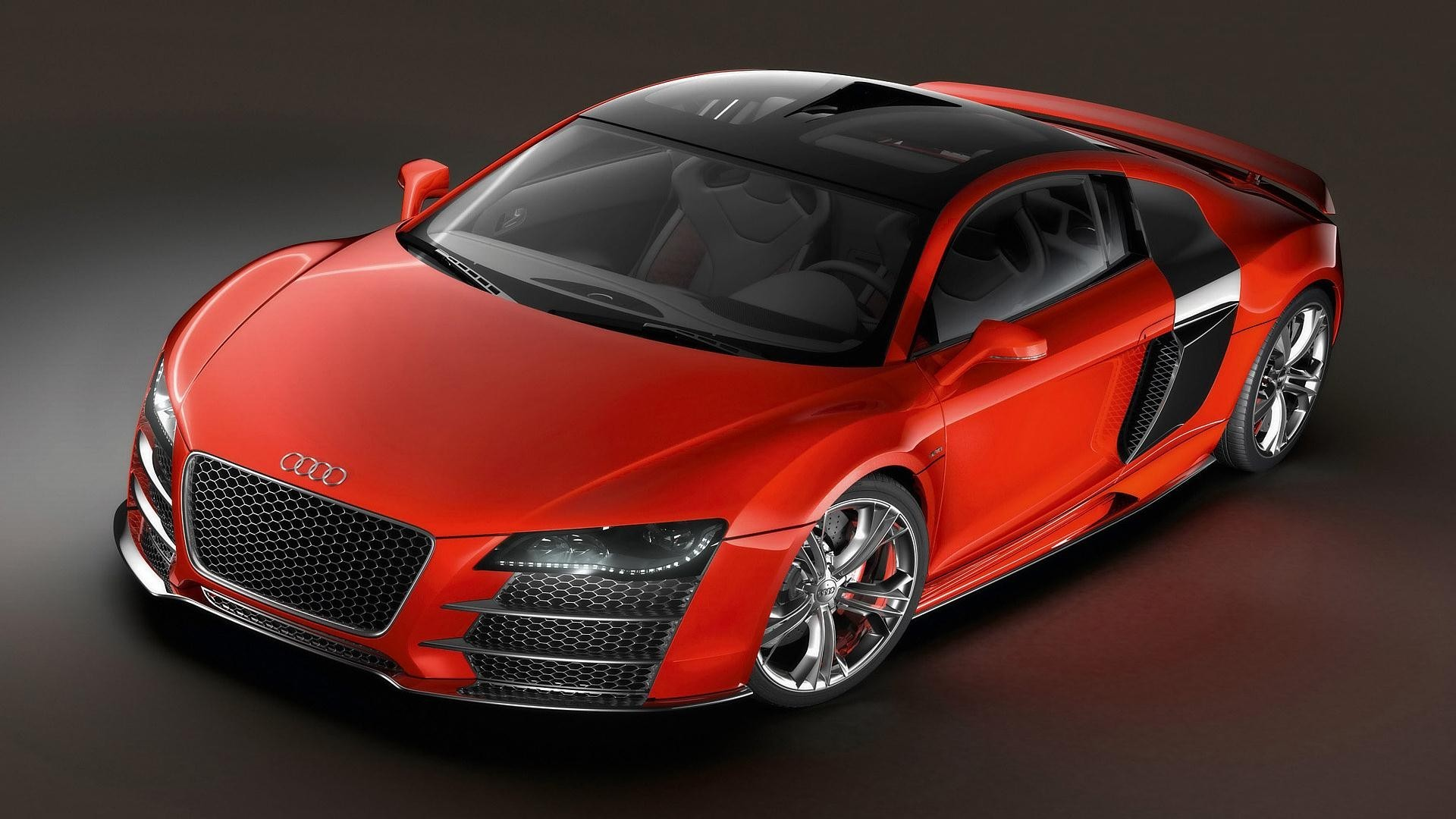 red cars Audi audi HD Wallpaper