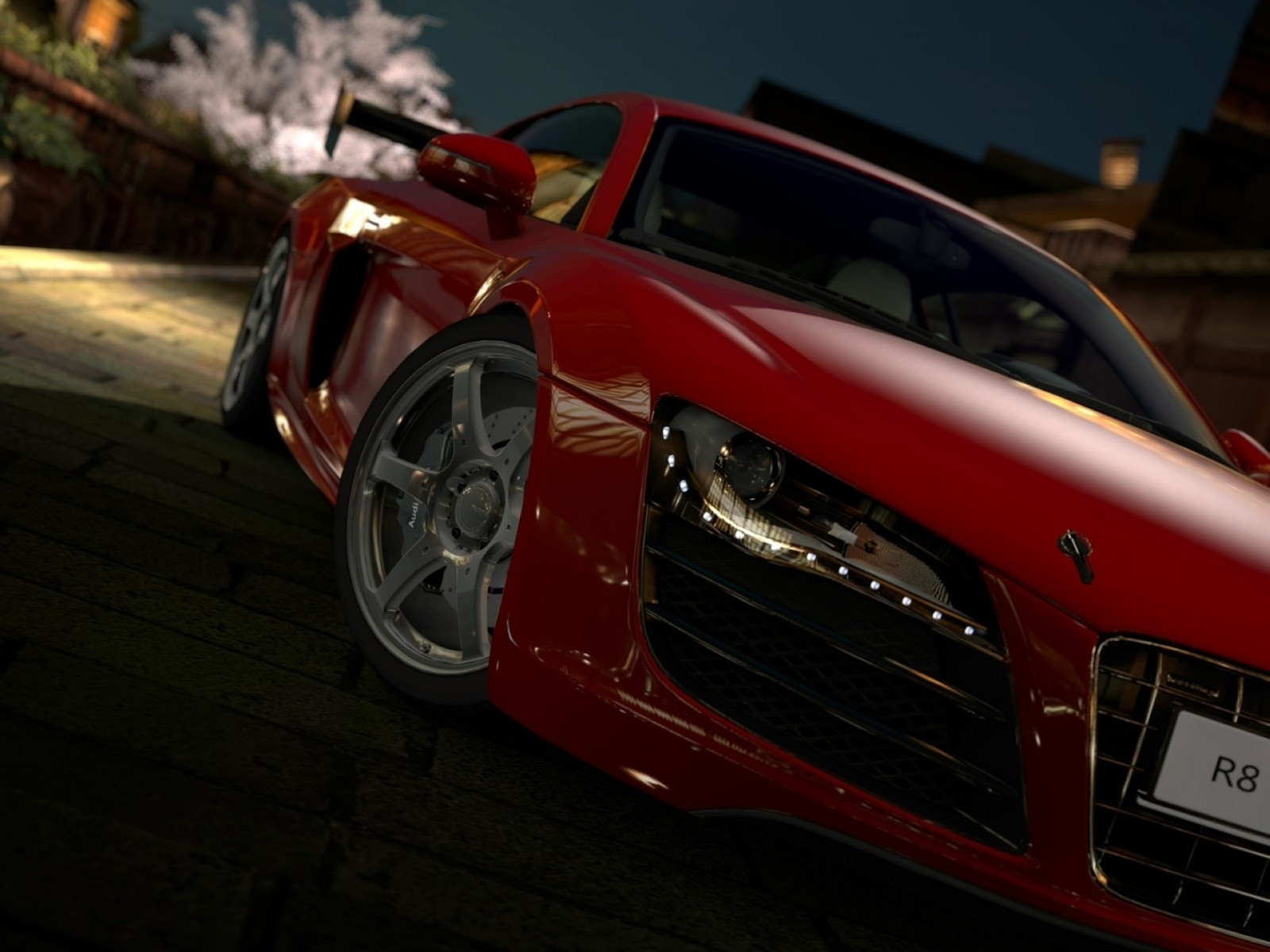 red cars audi r8 HD Wallpaper