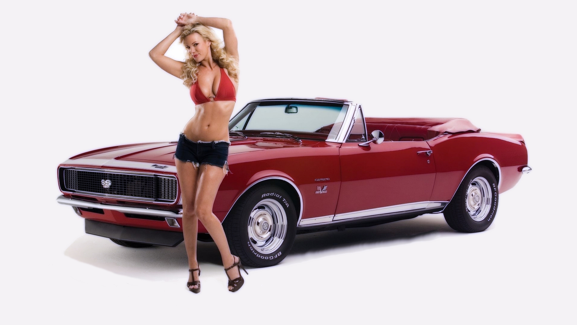 red cars convertible Shorts HD Wallpaper