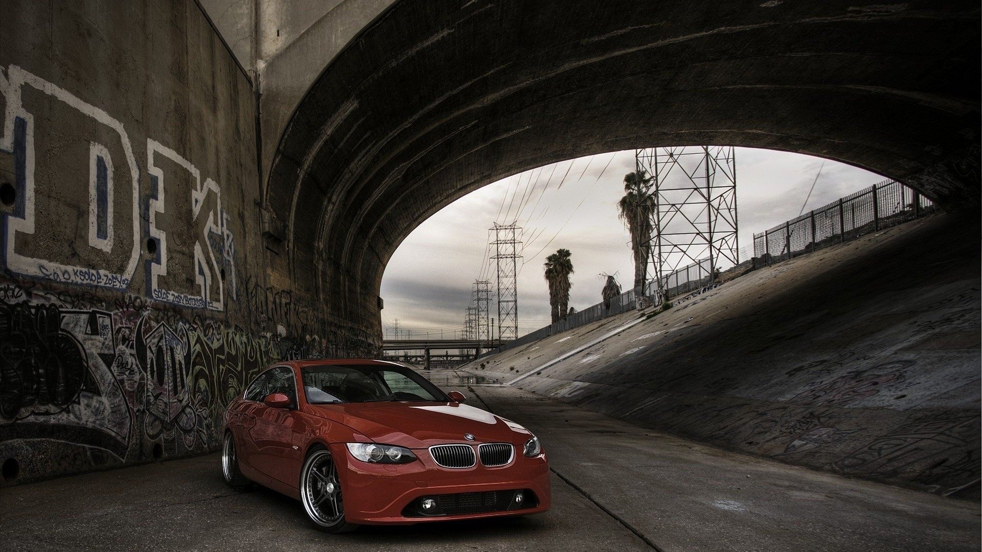 red cars graffiti tuning HD Wallpaper