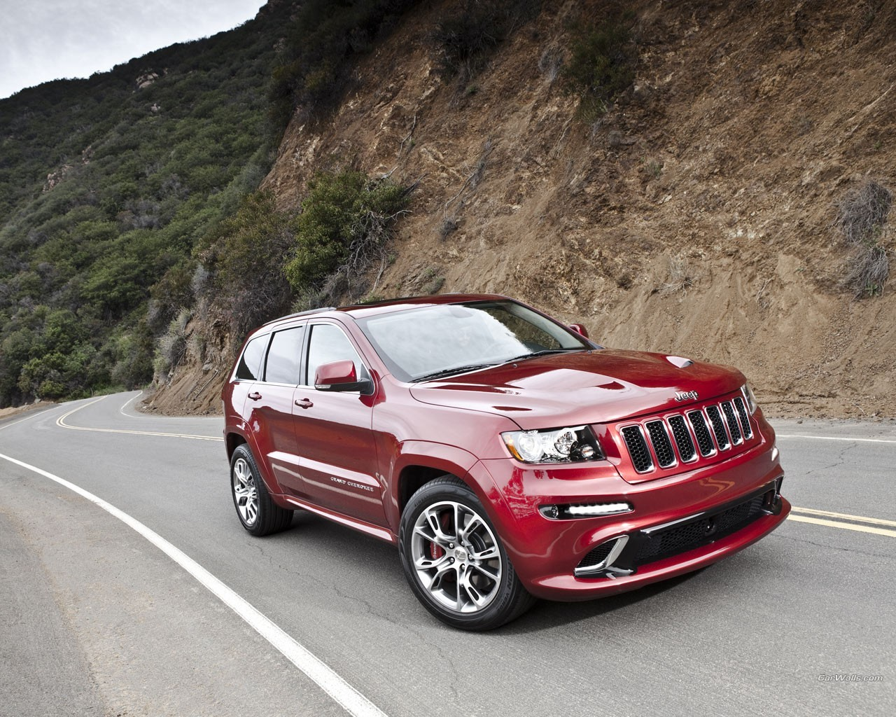 red cars jeep Cherokee HD Wallpaper
