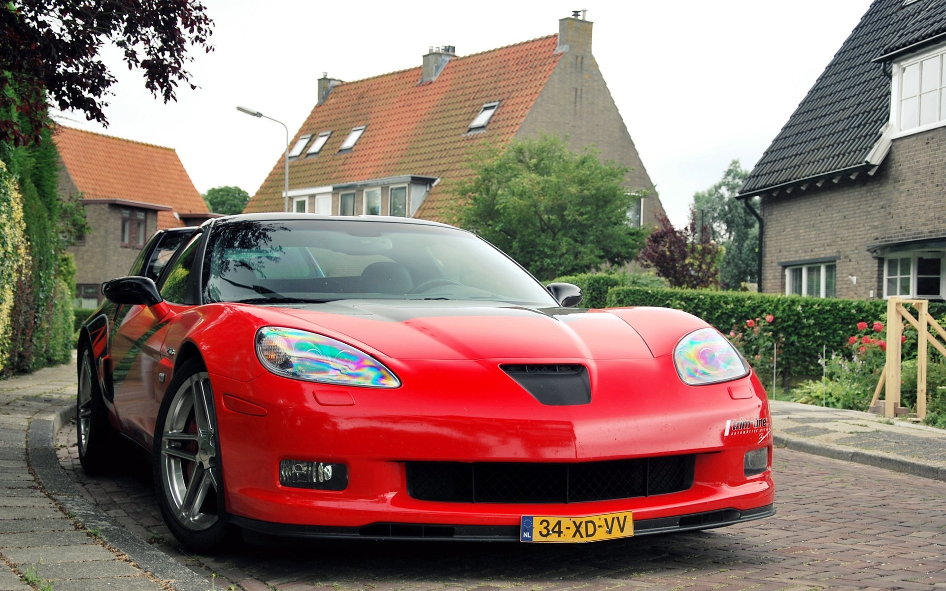 red cars tuning Corvette HD Wallpaper