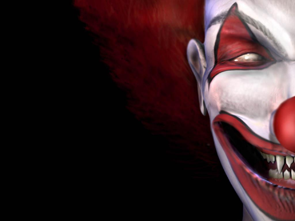 red clowns artwork faces HD Wallpaper