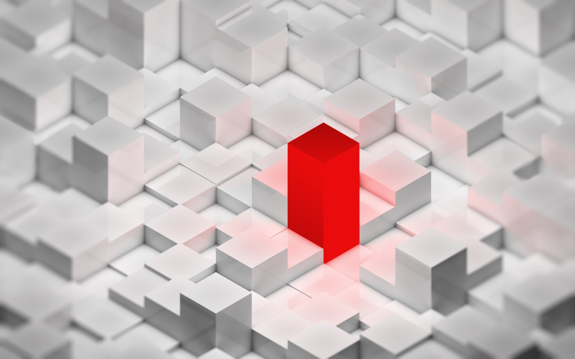 red cubes HD Wallpaper