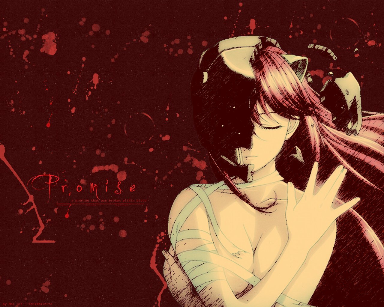 red elfen lied Anime HD Wallpaper