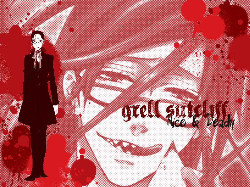 red glasses kuroshitsuji victorian HD Wallpaper