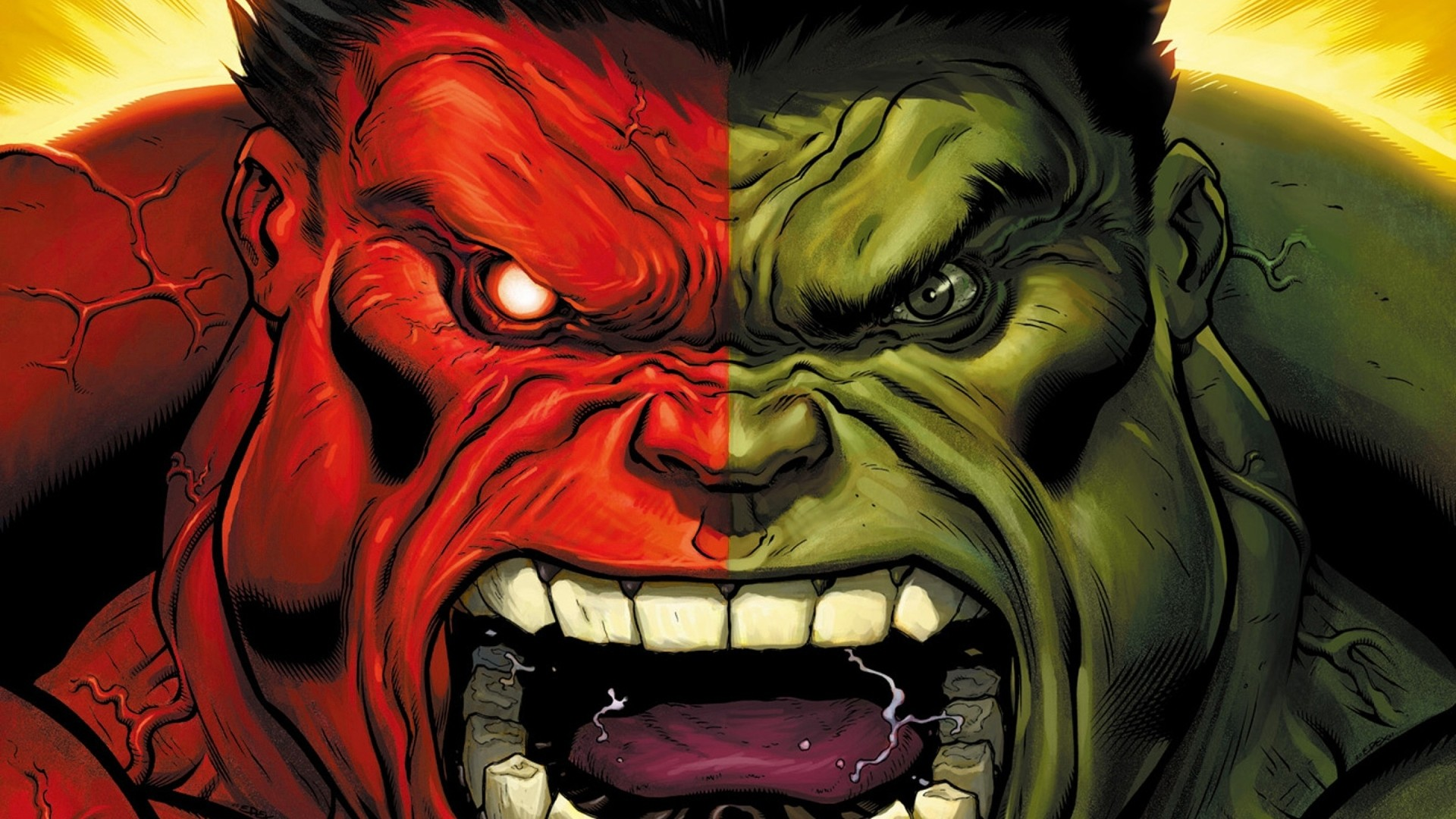 Red Hulk marvel comics HD Wallpaper