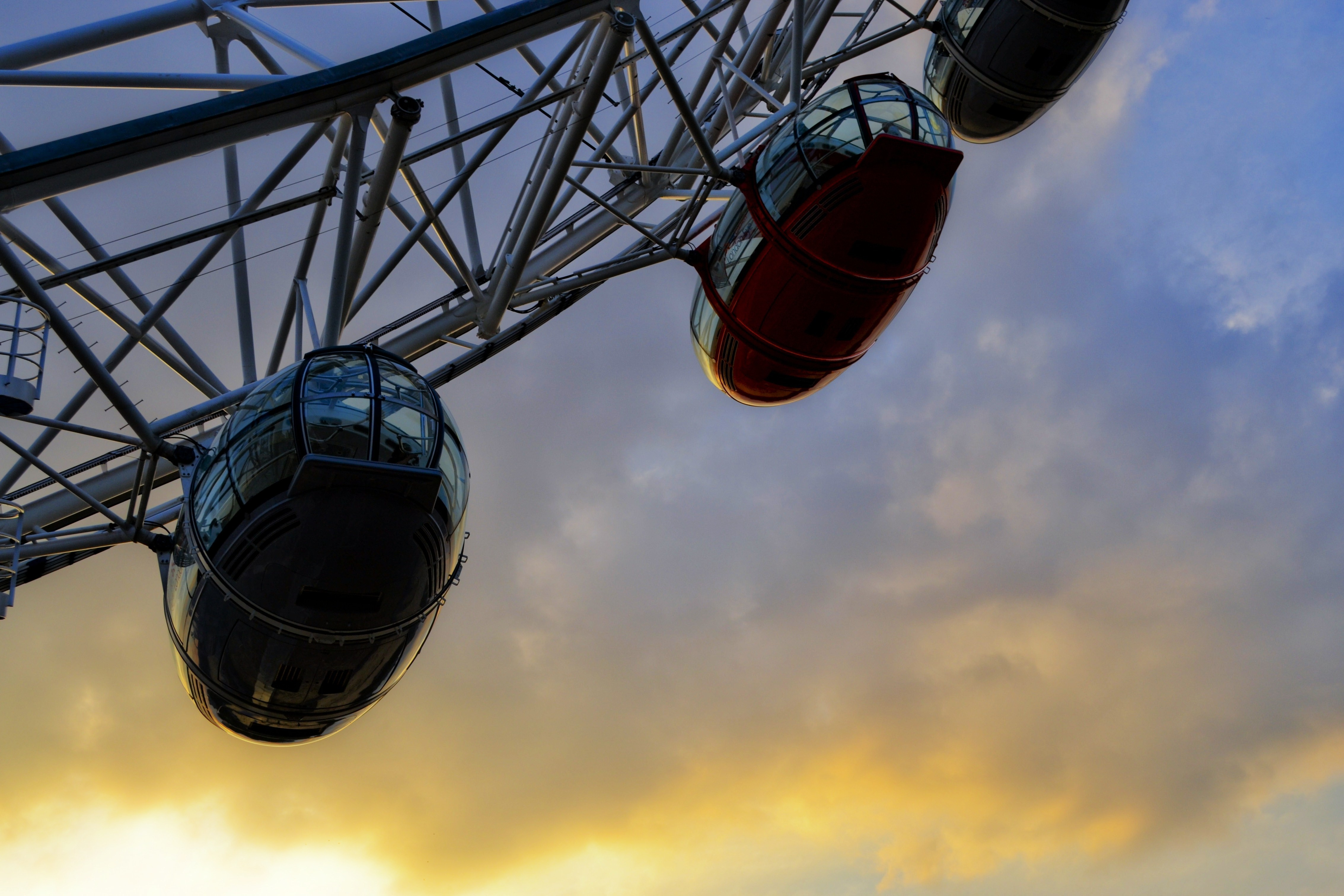 red London London Eye HD Wallpaper