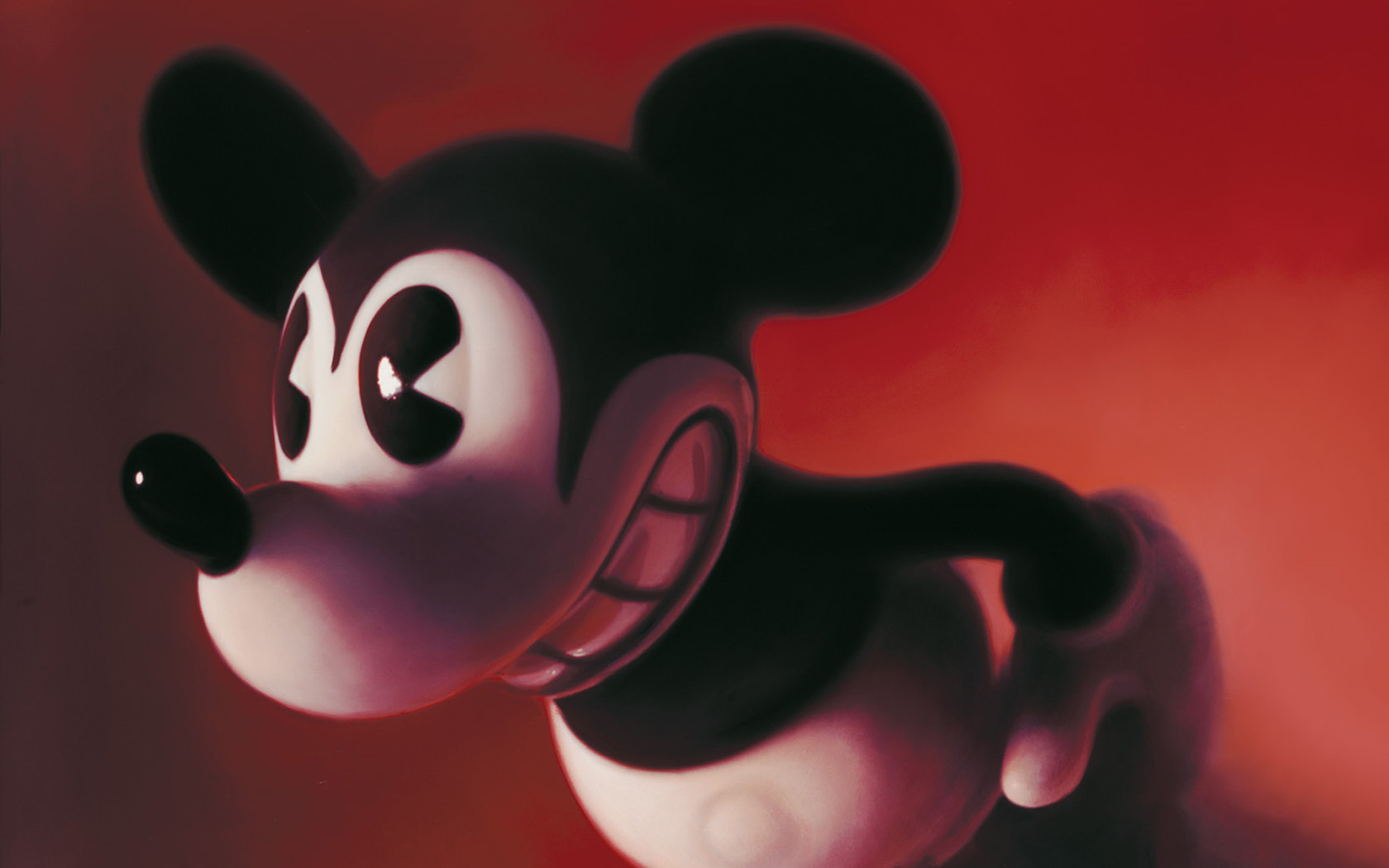 red Mickey mouse disney HD Wallpaper