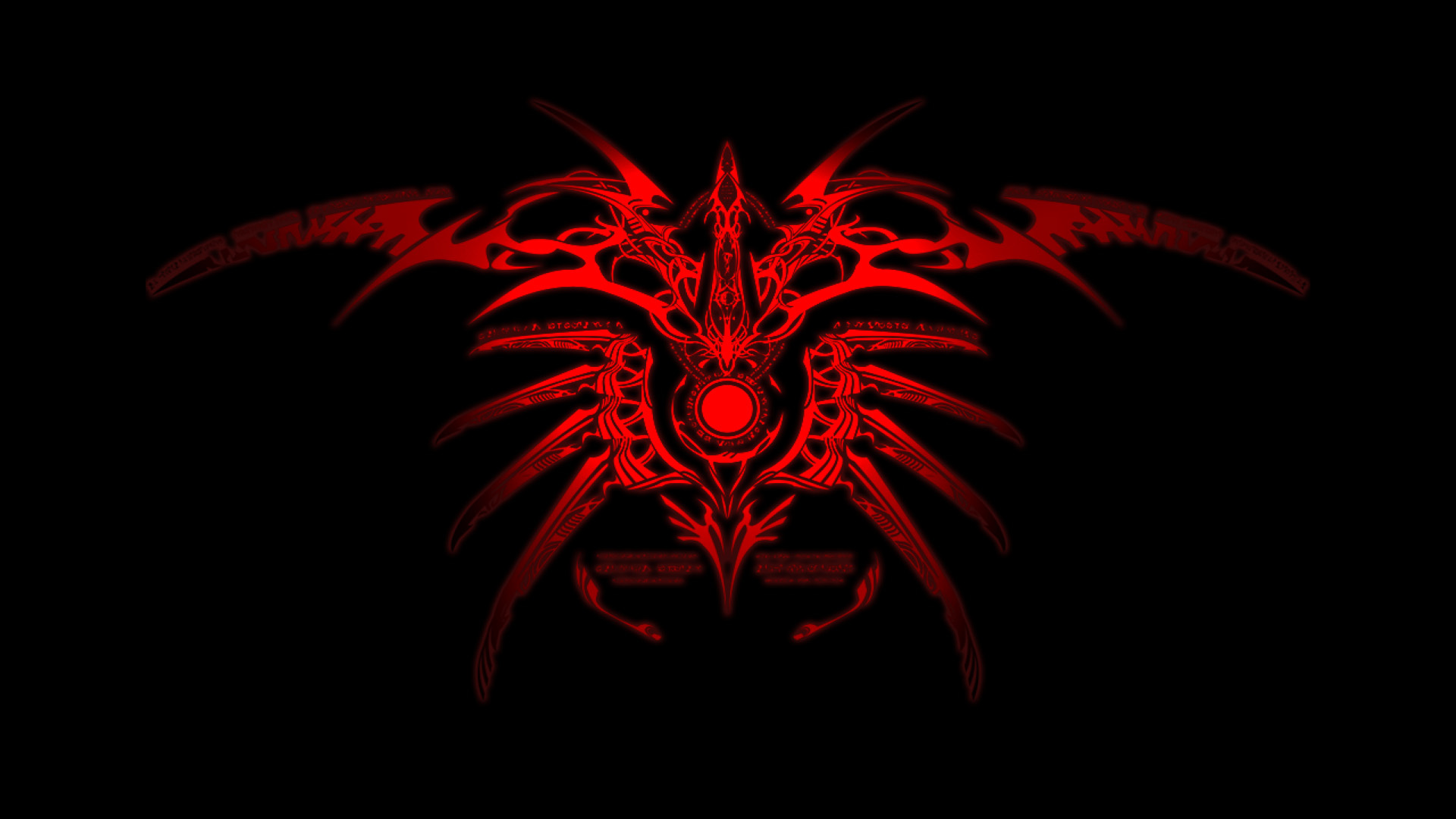 red Tribal blazblue Simple HD Wallpaper
