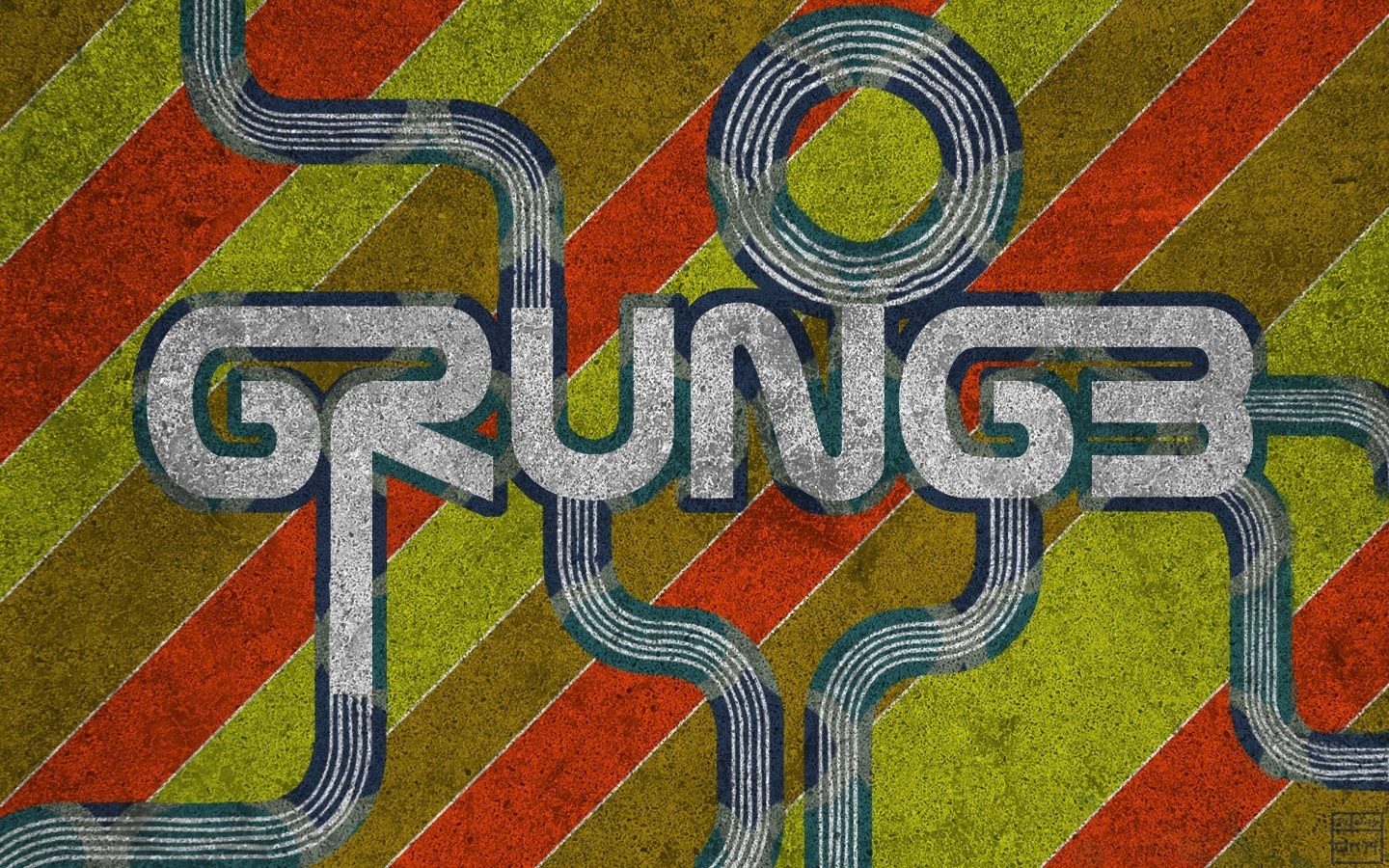 red yellow grunge retro HD Wallpaper