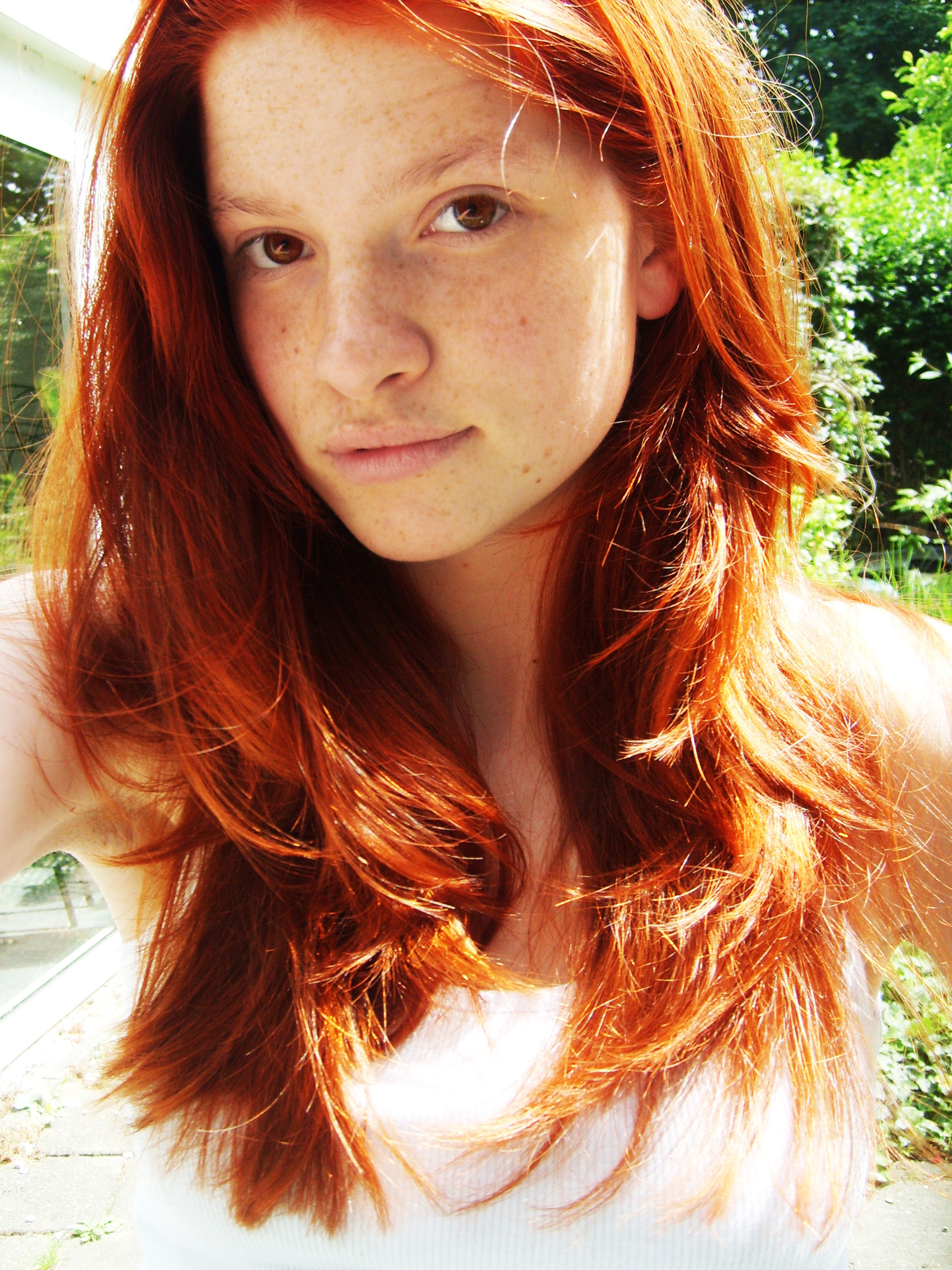 redheads freckles self shot HD Wallpaper