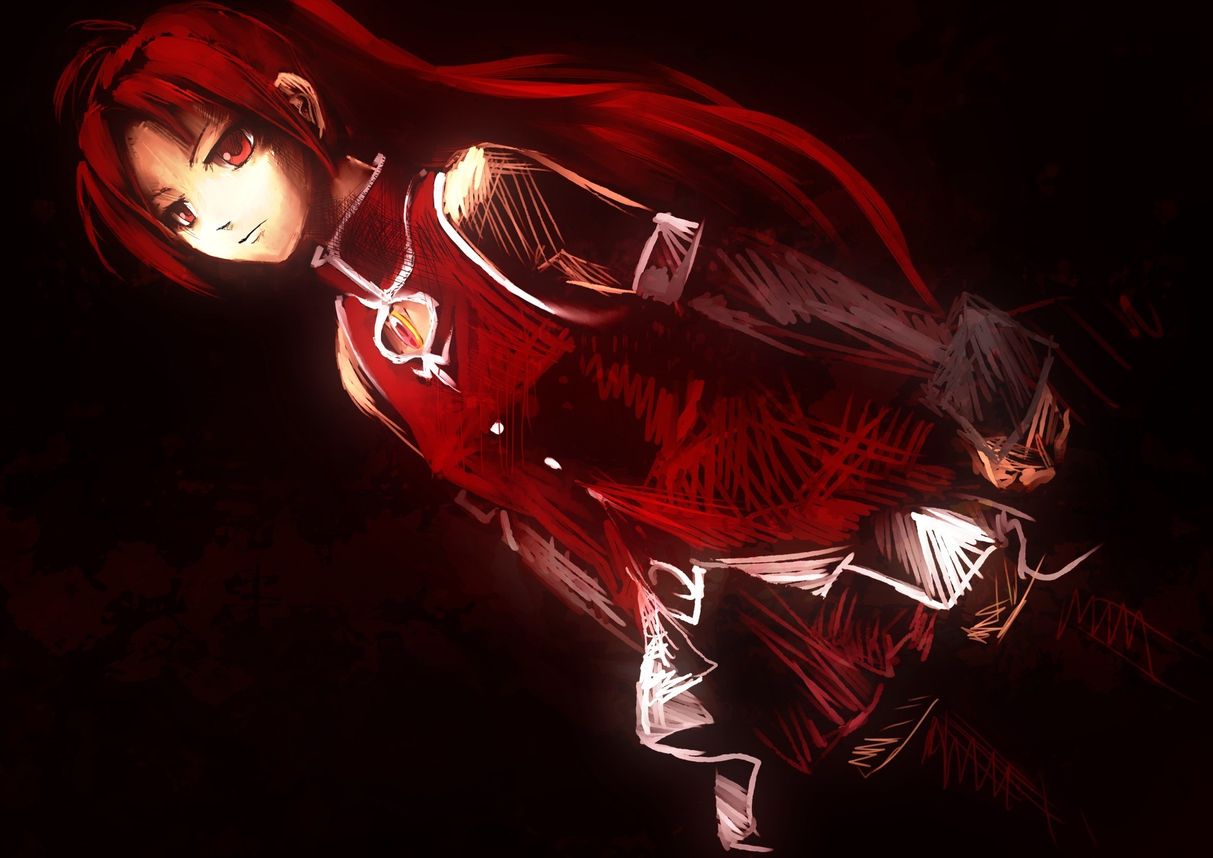 redheads red eyes mahou HD Wallpaper