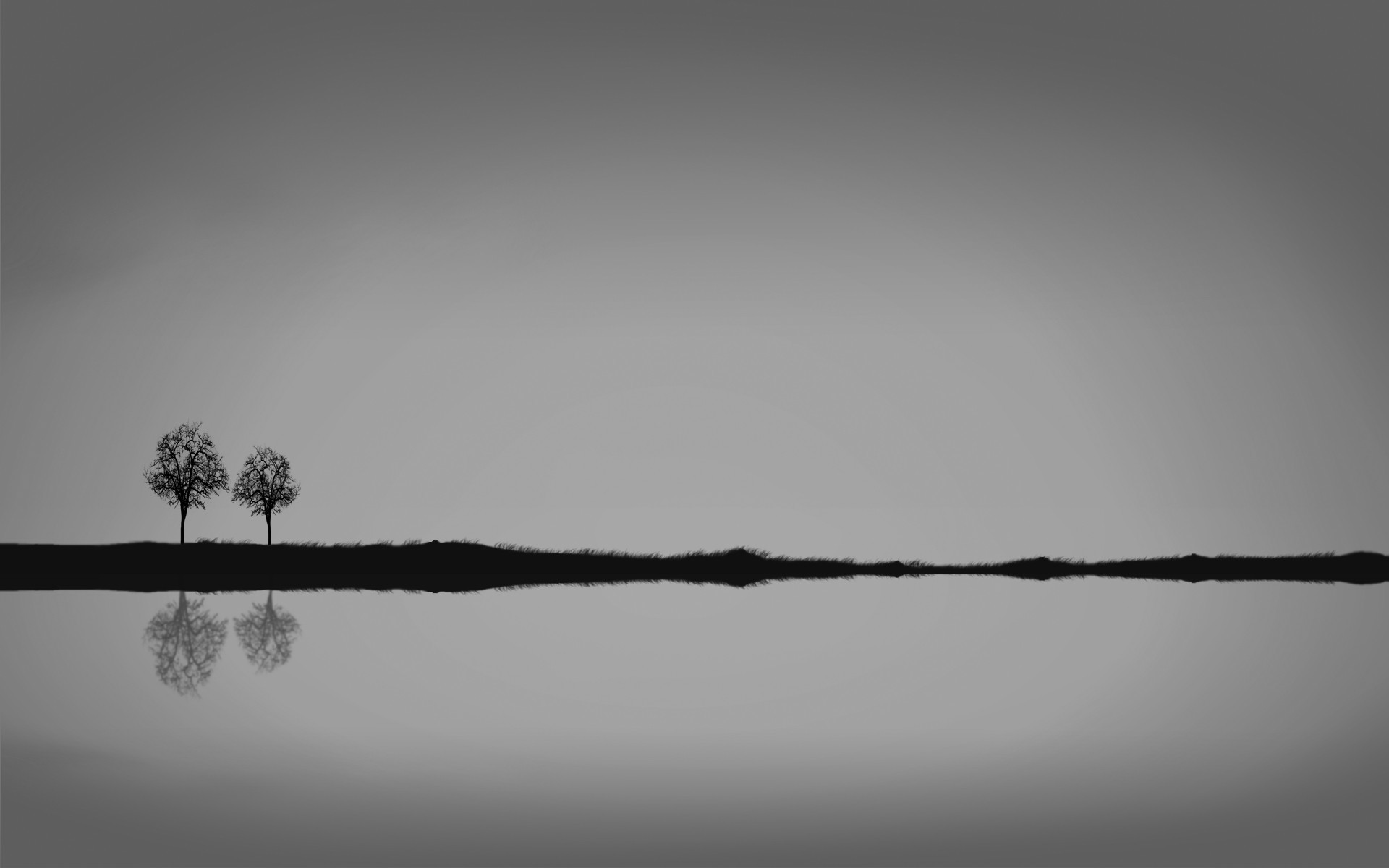 reflections minimalistic HD Wallpaper