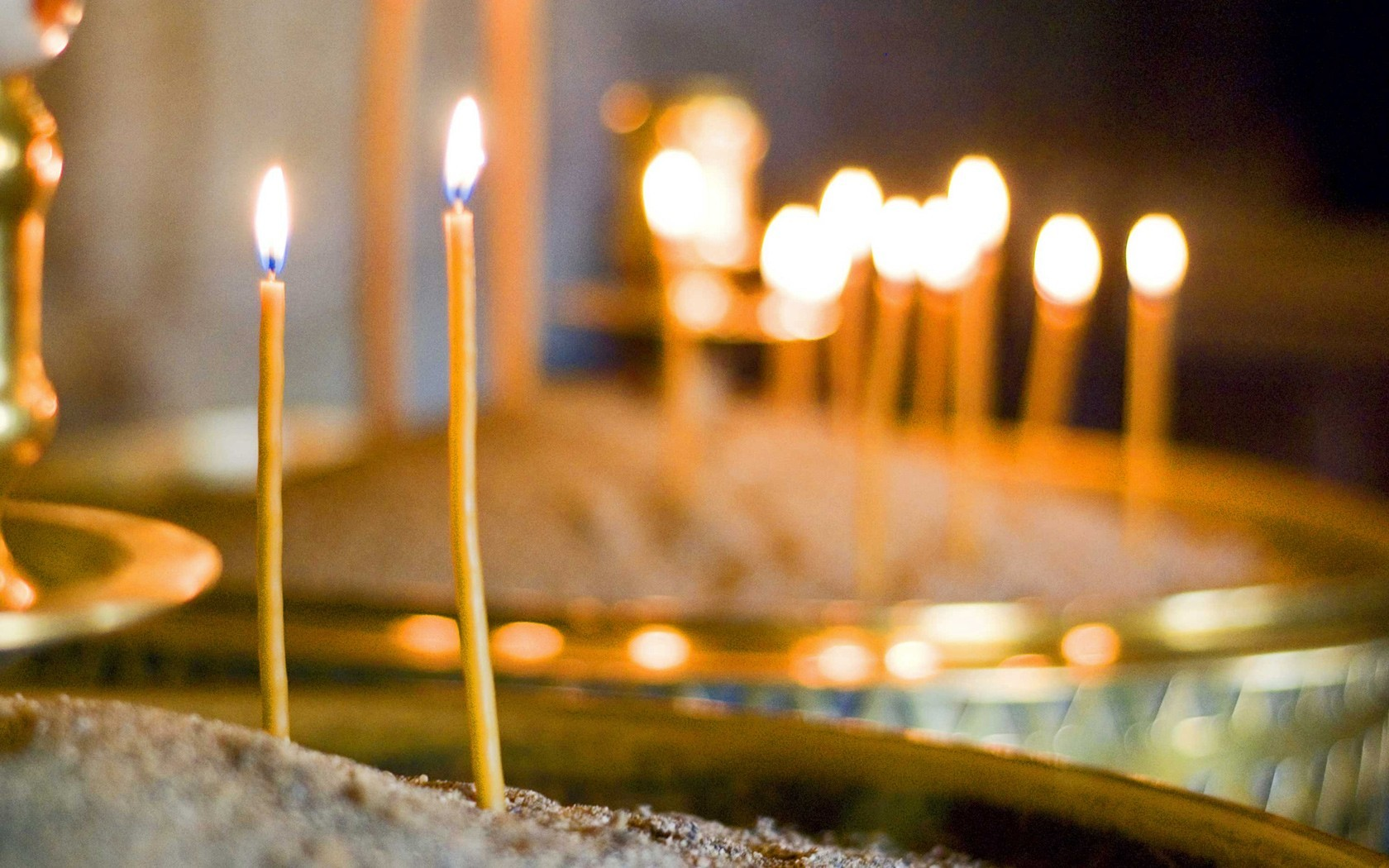 religion Candles HD Wallpaper