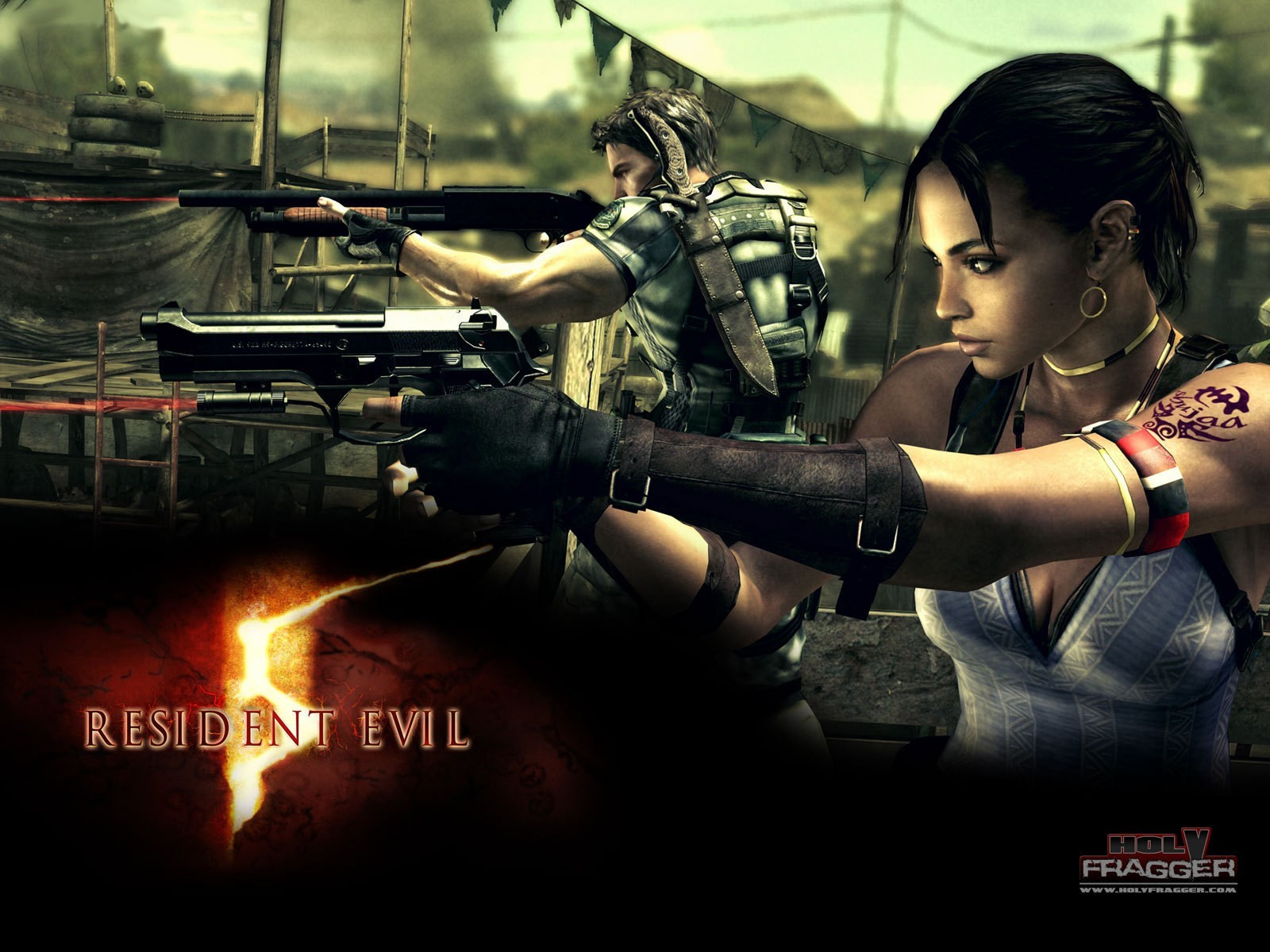 Resident Evil Chris Redfield HD Wallpaper