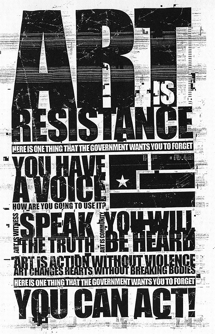 resistance text Typography change HD Wallpaper