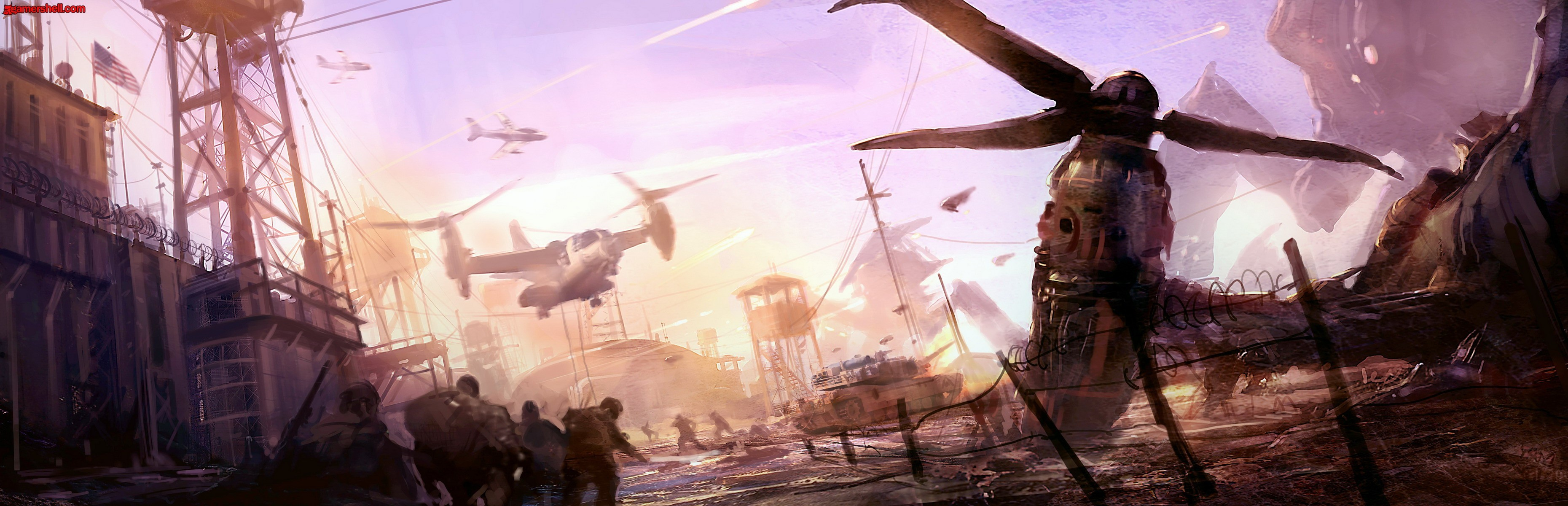 resistance War aircrafts soldiers HD Wallpaper