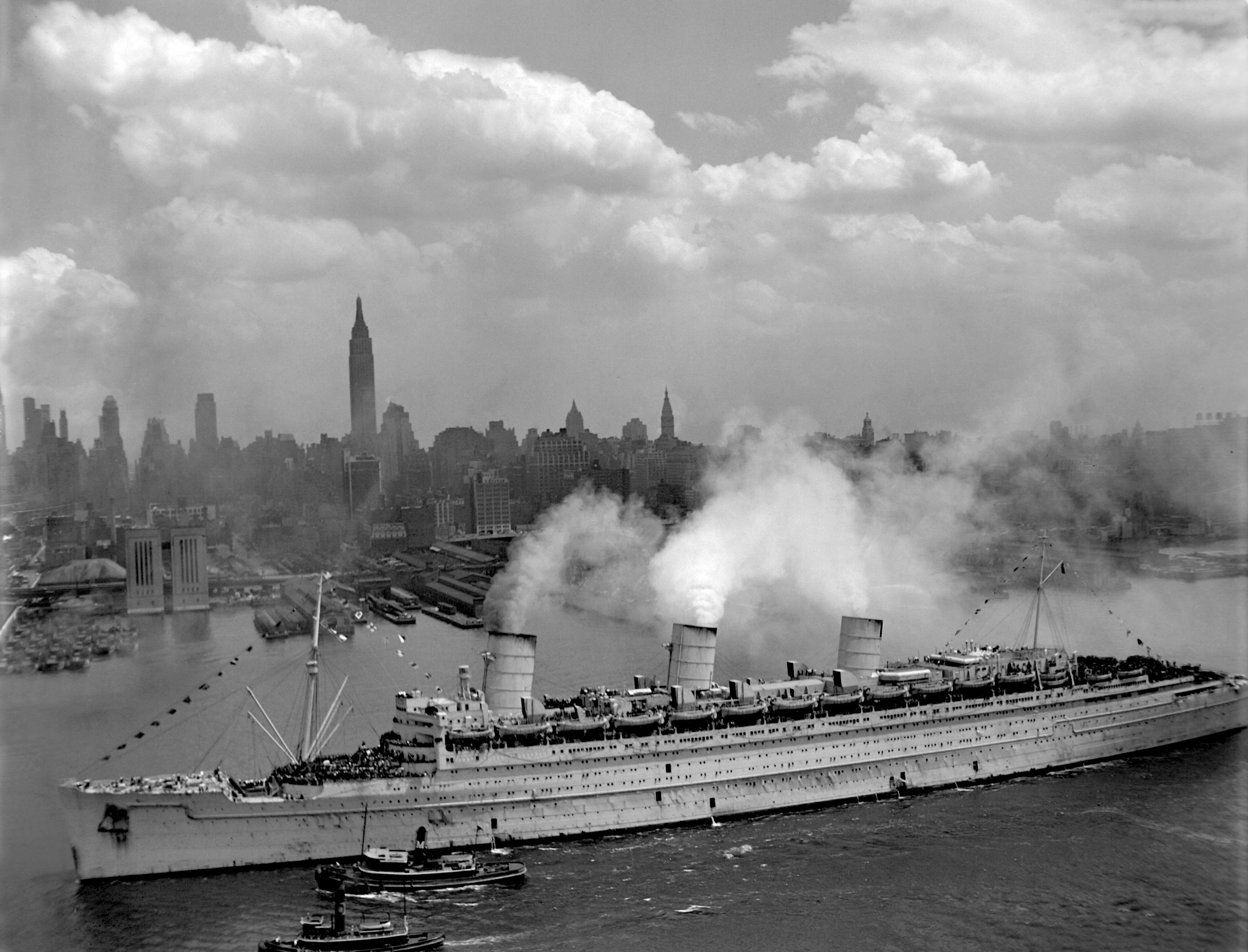 rms queen mary newyork HD Wallpaper