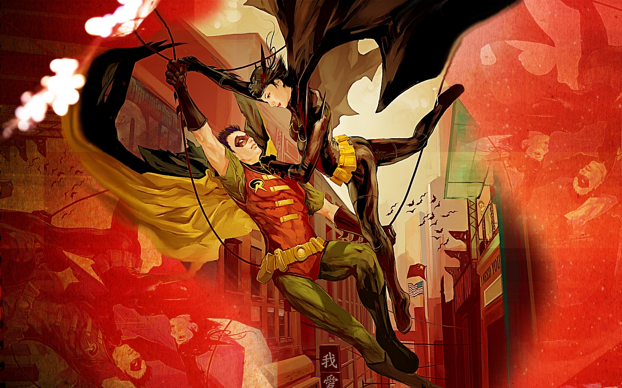 robin dc comics Batgirl HD Wallpaper