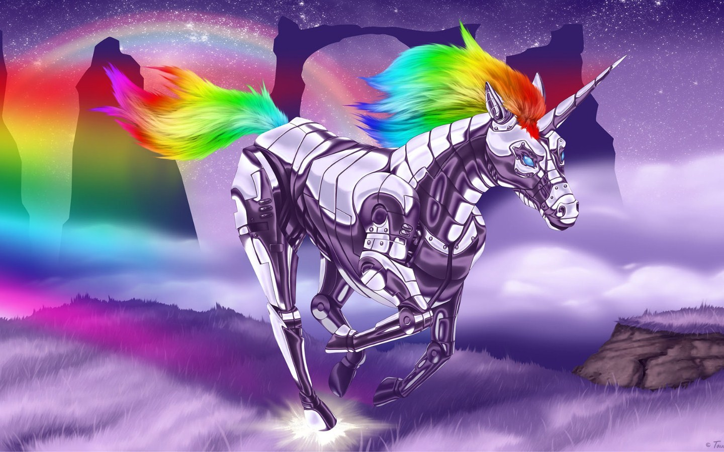 robot unicorn attack Animals HD Wallpaper